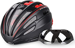 51ebbcde24 RJJ Casco de ciclismo, gafas integradas con gafas, hombres y mujeres,  equipo de