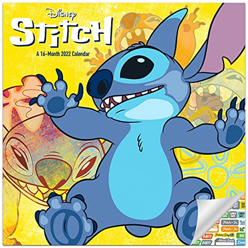Disney's Stitch Calendar 2022 -- Deluxe 2022 Stitch Wall Calendar Bundle with Over 100 Calendar Stickers (Lilo and Stitch Gifts, Office Supplies)