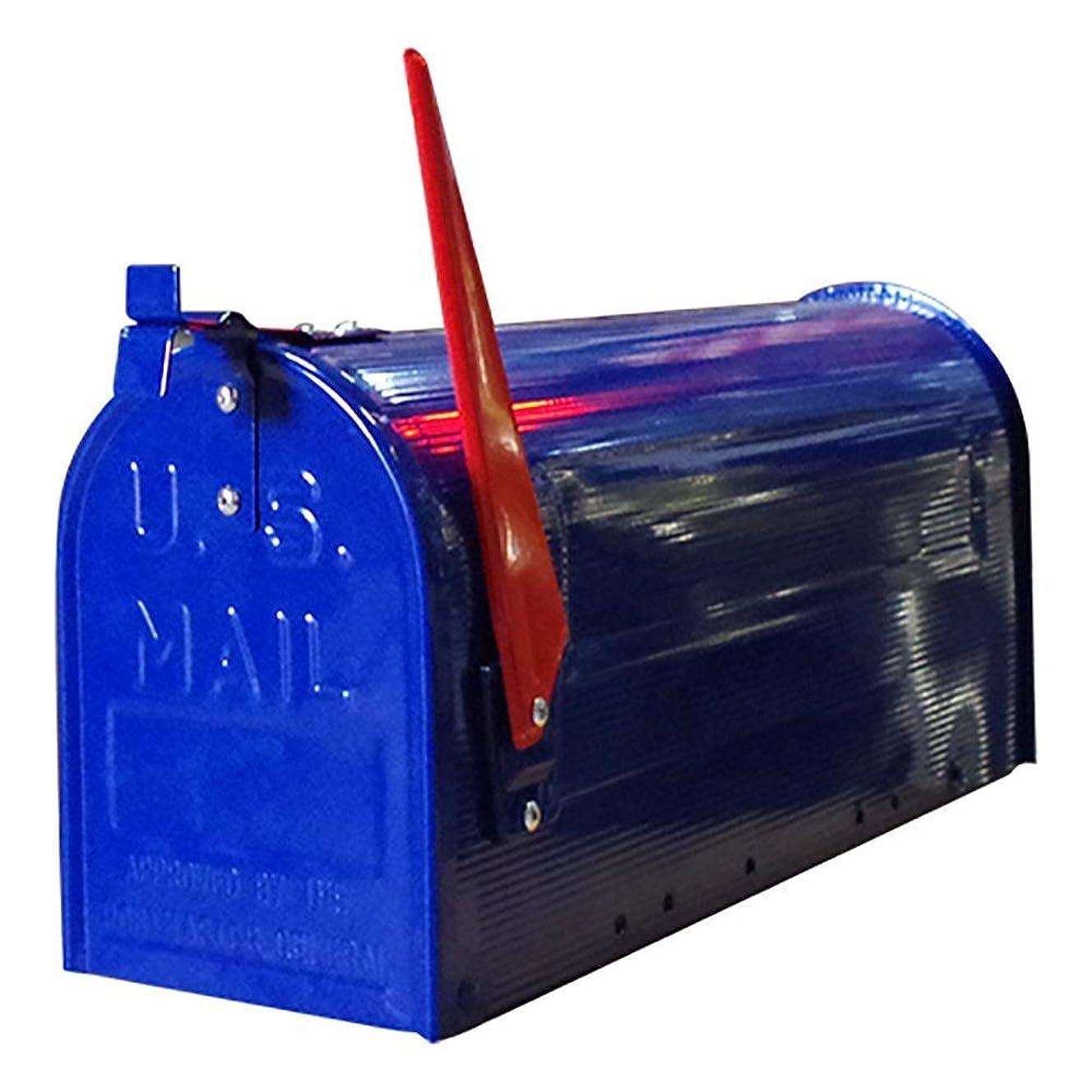 熟読する熱意キャッチアメリカン ポストボックス 専用ポール付き スタンド メールボックス ネイビー ポスト アメリカン雑貨