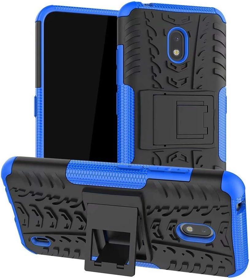 جراب Minwu لهاتف Huawei P Smart S، مع مسند حلقي وحامل دائري، واقي للجسم بالكامل من السيليكون TPU مخصص للصدمات وواقي قوي لهاتف Huawei P Smart S-Blue