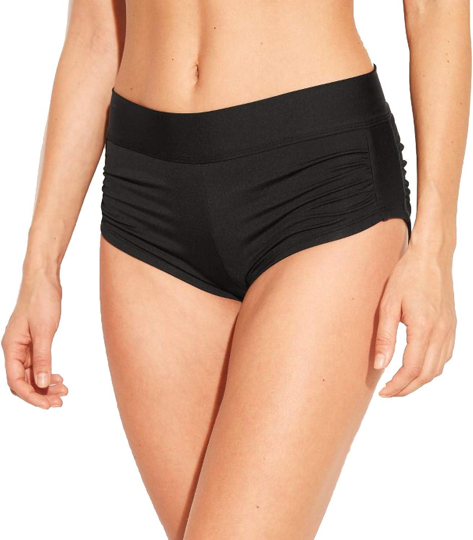 Kona Sol Women's Shortie Swim Shorts - Black