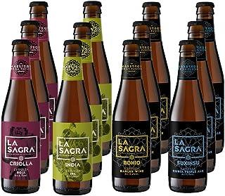 La Sagra pack degustación de cerveza artesana GOURMET. Caja con 12 botellas de 330 ml
