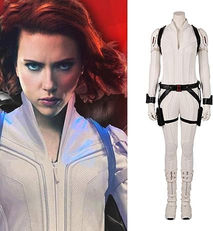Black Widow White Costume Natasha Romanoff Women White Halloween Costume Outfit