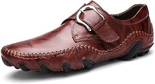 bd706499 Hombres Mocasines Moda Suave Mocasines Alta Calidad Genuina Zapatos de Cuero  Hombres Pisos