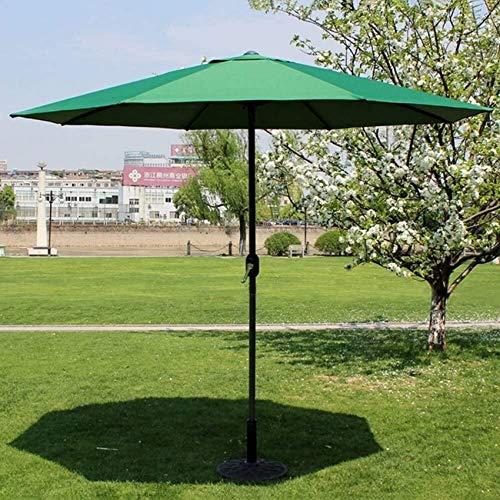 FCXBQ Sombrillas Sombrilla al Aire Libre Patio Jardín al Aire Libre Mesa de césped Toldo para el Sol Protección UV 270 cm * 250 cm (Color: Color café) Toldos (Color: Verde)