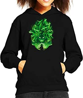 Cloud City 7 Dragon Ball Z Broly Silhouette Lightning Kid's Hooded Sweatshirt