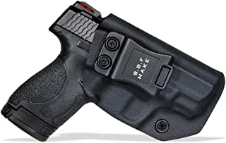 B.B.F Make IWB KYDEX Holster Fit: Smith & Wesson M&P Shield & Shield 2.0-9MM/.40 S&W | Retired Navy Owned Company | Inside Waistband | Adjustable Cant | US KYDEX Made