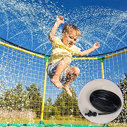 Tesysyet Trampolín De Riego Manguera, 49.2FT, Trampolín Acuático De Riego Mejor Verano Al Aire Libre De Juegos For Niños (Color : Black)
