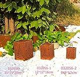 Zen Man Edelrost Windlicht Kerzenhalter Garten Laterne aus Metall Garten Weihnachtsbaum Rost Gartendeko 032056 (15 * 15 * 20cm)