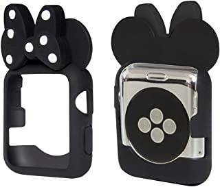 Tech Express 3D Mouse Ears Cartoon Character Case Polka Dot Bow Corner & Edge for Apple Watch [iWatch] Series 4, 5 Colorfu...