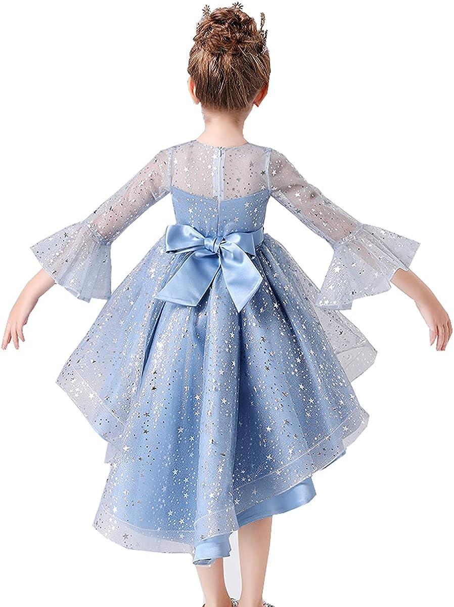 Little Big Girls Soft Mesh Elegant High-Low Flower Girl Birthday Party Pageant Dress