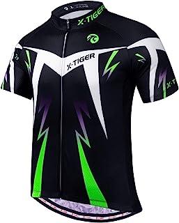 X-TIGER Herren-Radtrikots, kurzes T-Shirt, Fahhradtrikot MTB Rennrad Trikot Kurzarm Fahrradbekleidung für Männer