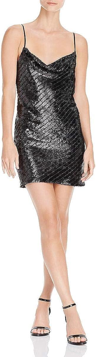 Bardot Women's Emmie Sequined Mini Dress (L, Black)
