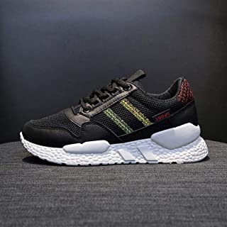 2019 Summer and Autumn New Korean Version of The Wild Sports Shoes Women's Breathable Student Running Shoes Fitness Shoes (Color : Black, Size : 39)