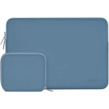 MOSISO Housse Compatible avec 13-13,3 Pouces MacBook Pro, MacBook Air, Notebook Computer, Laptop Sleeve Néoprène Sac avec Petite Pochette, Chaux Marin