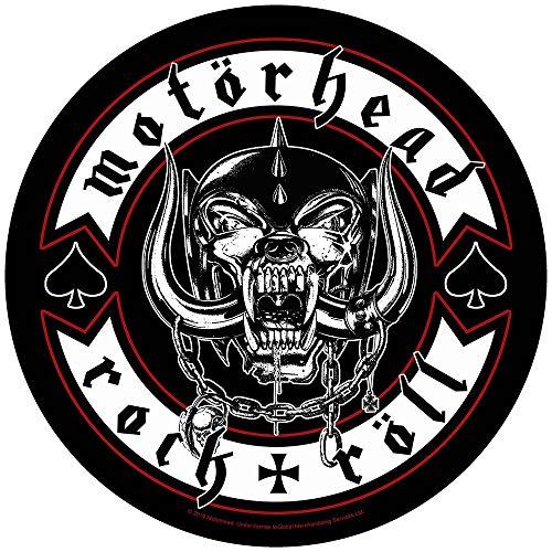 Motörhead Rückenaufnäher Rock n Roll Backpatch XL 29cm Aufnäher Back Patch Rock 'n' Röll Biker Badge