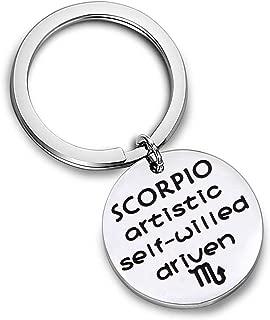 AKTAP Zodiac Key Chain Zodiac Constellation Sign Symbol Keychain Birthday Gift for Women Girls