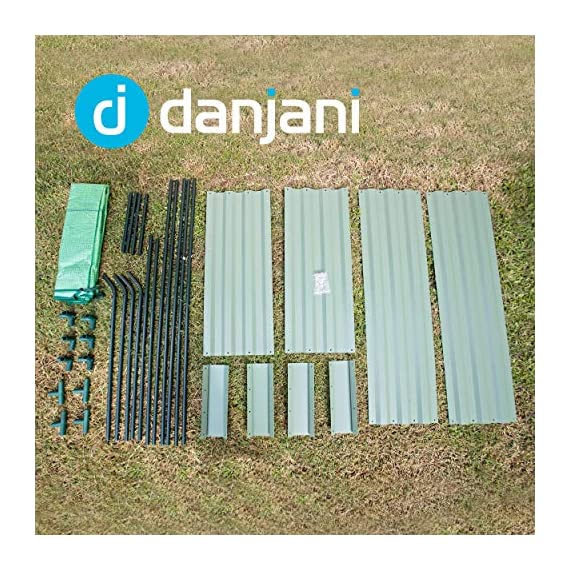 Danjani outdoor raised garden bed with drop over greenhouse - durable, anti-rust steel flower beds - 71. 3 gal planter… 4 perfect for every gardener: whether you're an experienced gardener or as new as freshly grown sprouts, this raised garden bed kit is perfect for you. The planter box makes growing herbs, vegetables and plants easy and stress-free. Enjoy low maintenance with the greenhouse, which provides weather protection, keeping heat and moisture in, and bugs and critters out. Protect and nourish plants: the greenhouse drop over can increase plant yield by providing a warm and nourishing environment to grow in. It also protects from extreme weather, making it possible to grow plants that normally wouldn't fare well in your area. Enjoy year-round fruits and vegetables with the option to grow in the winter. Save money: the rising cost of herbs and produce makes eating healthy an expensive option. But it doesn't have to. Growing your own food can be rewarding, not only for your body and mind but for your wallet too. Have year-round access to some of your favorite fruits, vegetables, and herbs with only the minimal cost of growing them!