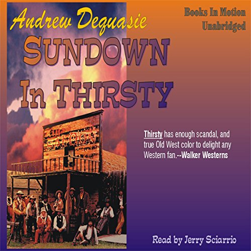 Sundown in Thirsty audiobook cover art