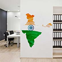 Rawpockets 'Tri Colour India ' Wall Sticker (PVC Vinyl, 85 cm x 95cm)