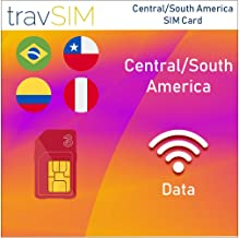 travSIM Three UK Prepaid Card Central South America SIM 12GB Data Valid For 60 Days – Free Roaming In 71+ Destination Countries Including Europe (Germany Spain UK France Portugal Italy Austria Belgium