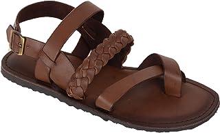 Vozno Men Brown Slip On Casual Sandal