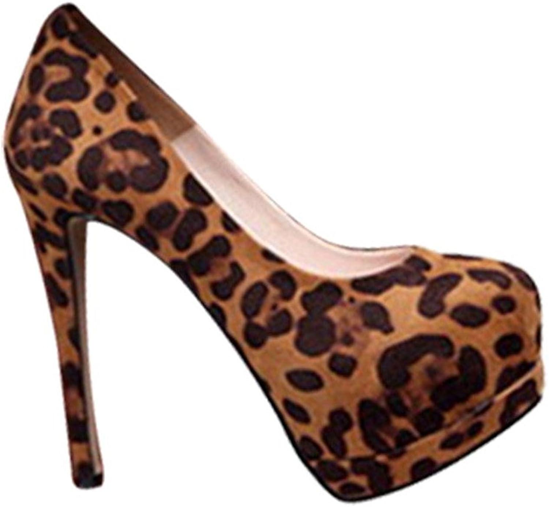 Sothingoodly Pretty Optimal Women Leopard High Heels shoes Stiletto Sandales