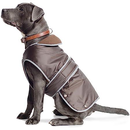 Black Dog Raincoat with Camel Tan 149 Medium Size Fleece Interior