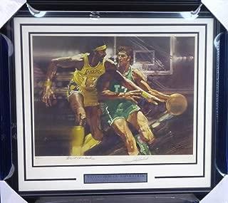 Wilt Chamberlain & John Havlicek Autographed Framed 26x29 1976 Sports Illustrated Living Legends Lithograph Beckett BAS #A20861 - Beckett Authentication