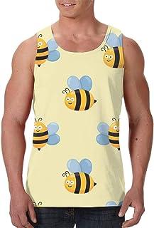 Men's Sleeveless Undershirt Summer Sweat Shirt Beachwear - Cat Head Cartoon