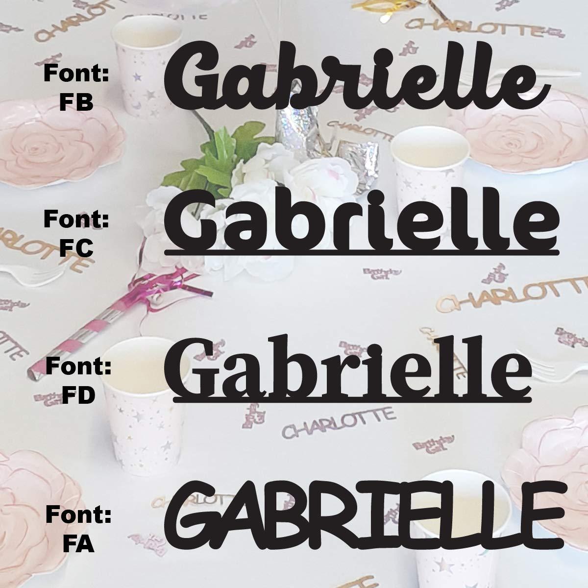 Brand Cheap Sale Venue GABRIELLE - Name Confetti in Colors. Confet Metallic High material 12 Includes