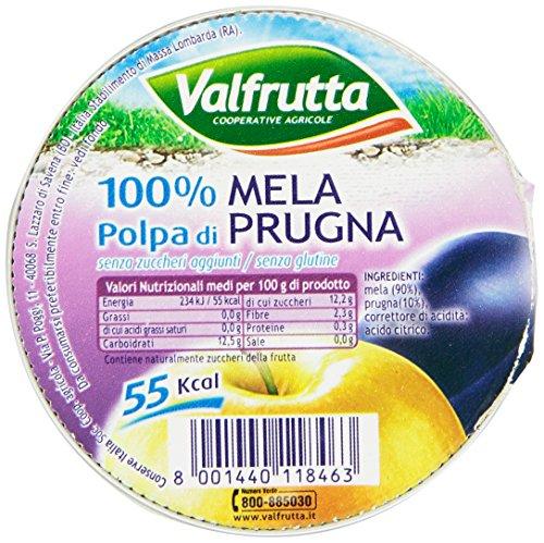 Valfrutta Polpa 100% di Mela e Prugna - 100 gr