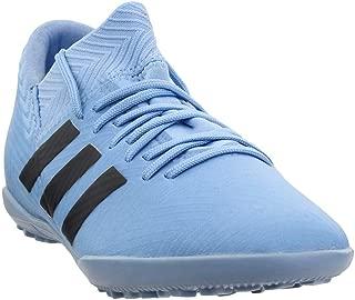 adidas Kids Unisex Nemeziz Messi Tango 18.3 TF Soccer (Little Kid/Big Kid) Ash Blue/Black/Raw Grey 2.5 M US Little Kid M
