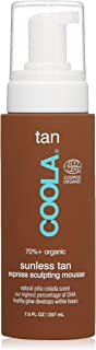 COOLA Organic Sunless Tan Express Body Mousse, 7 Fl Oz