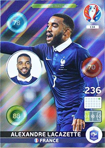 carte PANINI EURO 2016 #134 Alexandre Lacazette