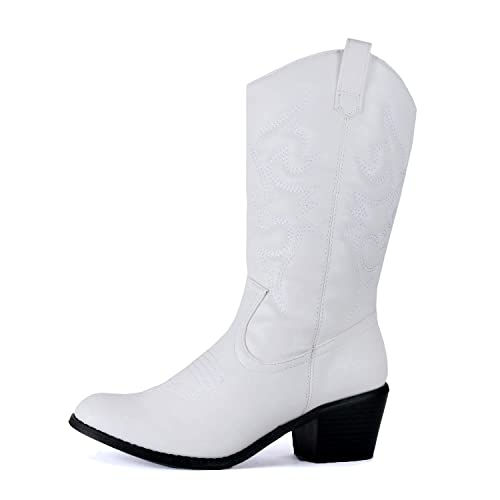 ed891f9978f7a White Cowboys Boots: Amazon.com