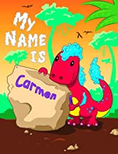 My Name is Carmen: 2 Workbooks in 1! Personalized Primary Name and Letter Tracing Book for Kids Learning How to Write Their First Name and the ... for Children in Pre-k and Kindergarten