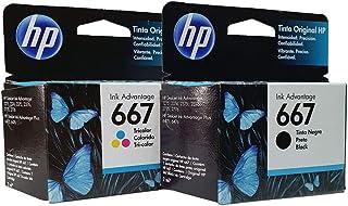 Kit 2 cartucho HP 667 Preto e Colorido