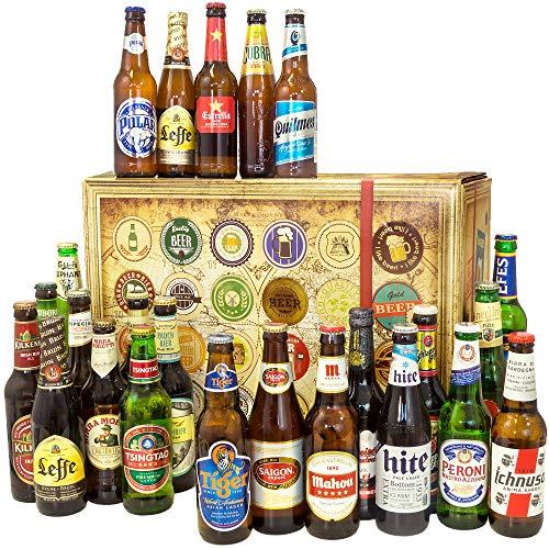 Biere aus der Welt / 24er Bier Geschenkset/Geschenkidee Ehemann