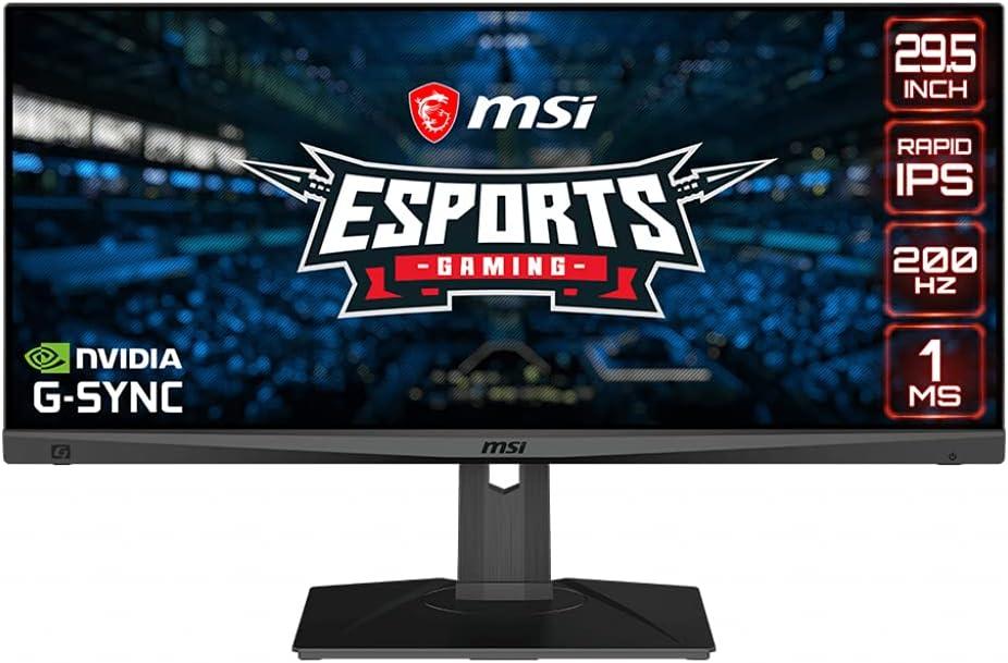 "MSI Optix MAG301RF - Monitor Gaming 29.5"" 200HZ (2560x1080, 1ms Respuesta, G-Sync Compatible) Negro"