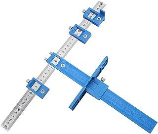 ASNOMY Punch Locator Guida per Foratura Legno, Fai-da-Te di Precisione con Righello 400mm Supporto per Trapano Fori Multip...