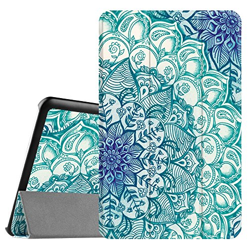 Fintie Samsung Galaxy Tab E 9.6 Hülle Case - Ultra Schlank Superleicht Ständer SlimShell Cover Schutzhülle Etui Tasche für Samsung Galaxy Tab E T560N / T561N 24,3 cm (9,6 Zoll) Tablet-PC, Emerald