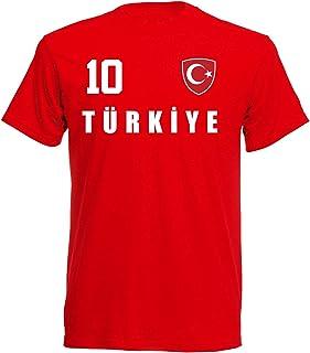 Aprom-Sports Camiseta con diseño del Mundial de Turquía 2018, Color Rojo, ALL-10, Tallas S, M, L, XL, XXL