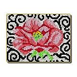 Latch Kits Alfombra Bordado Lo Hace Alfombra de Felpa Alfombrilla de Bordado Kit de fabricación de alfombras DIY Decoración para el hogar,Pretty Flower,105cm/41.3inch