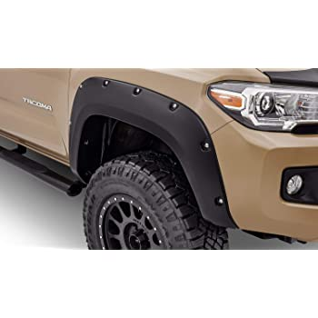 Tidal Front and Rear Fender Flares ABS Pocket Rivet Style Fit for 16-18 Tacoma