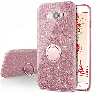 Galaxy A5 2016 Case,Silverback Girls Bling Glitter Sparkle Cute Phone Case With 360 Rotating Ring Stand, Soft TPU Outer Cover + Hard PC Inner Shell Skin for Samsung Galaxy A5 2016 Silverback-100669