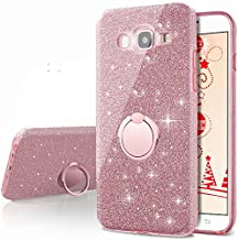 Galaxy A5 2016 Case,Silverback Girls Bling Glitter Sparkle Cute Phone Case with 360 Rotating Ring Stand, Soft TPU Outer Co...
