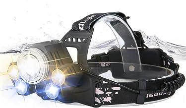 yywl led koplamp Krachtige LED Koplamp USB Oplaadbare Waterdichte Koplamp Tri-color Rotatie Zoom Glare Vissen Licht
