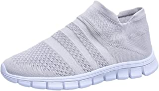 〓VigorY〓Women Running Lightweight Breathable Casual Sports Shoes Sneakers Walking Shoes Mesh Slip On Air Cushion