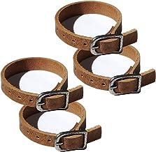 1 Lederriemen Braun 2,0 x 70,0 cm lang Fix-Riemen Befestigungsriemen Schnalle
